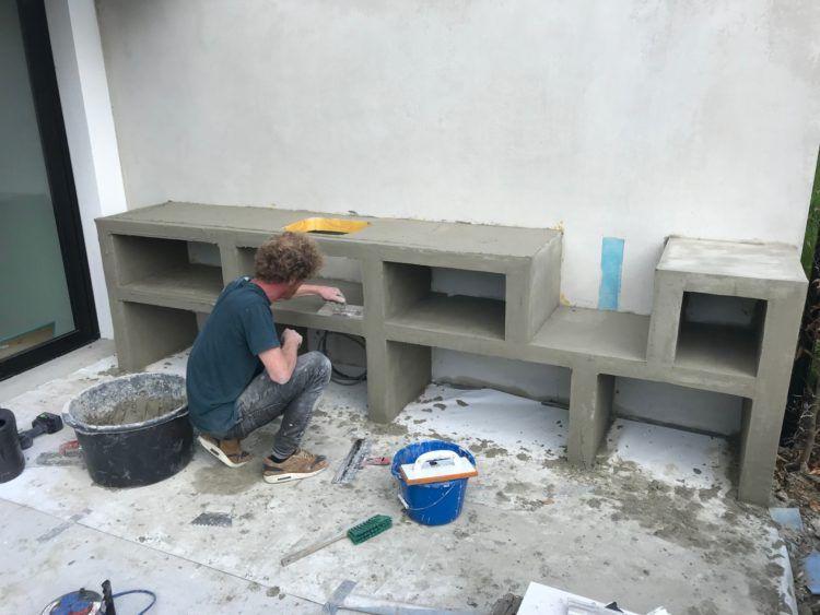 frame maken buitenkeuken